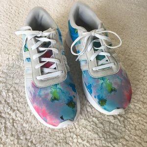 Adidas pastel color splotch sneakers